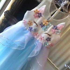Beautiful Unicorn Dress Girls 5